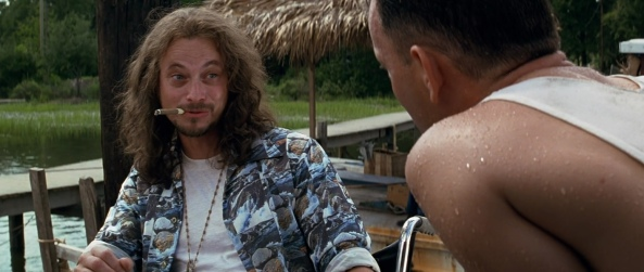 Gary Sinise as Lieutenant Dan Taylor (Left) & Tom Hanks as Forrest Gump (Right)