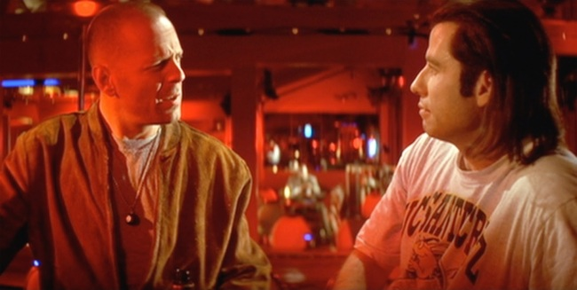 Bruce Willis John Travolta Pulp Fiction