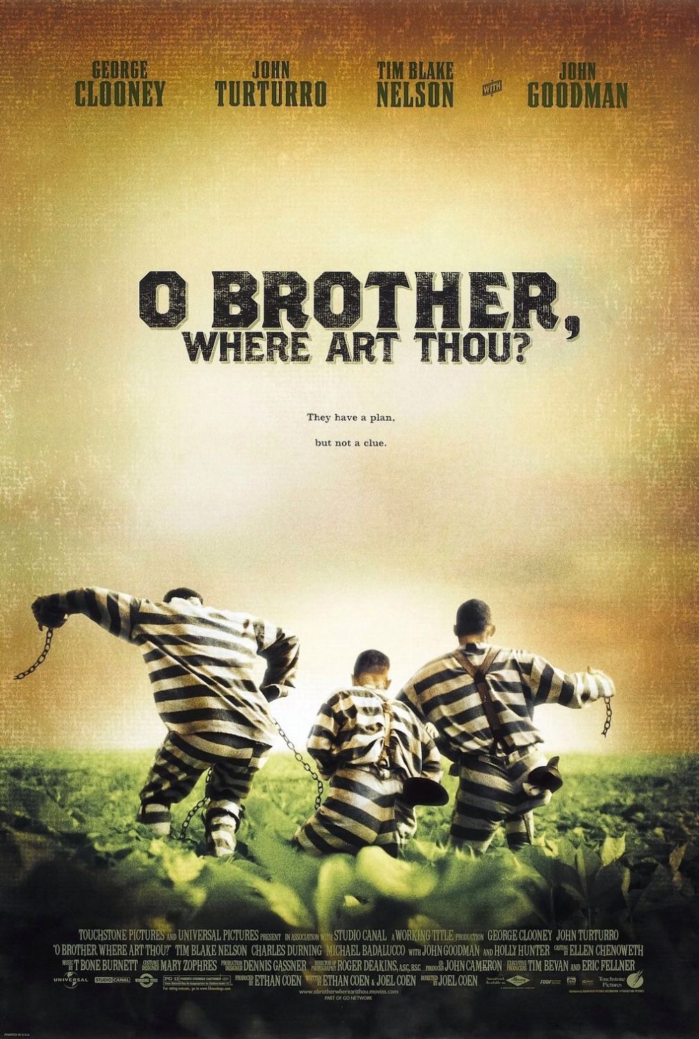 O Brother Where Art Thou Movie Poster