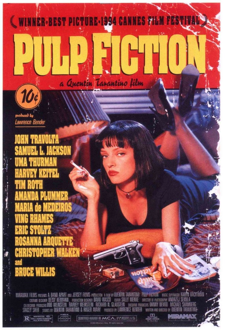 Pulp Fiction Movie Poster