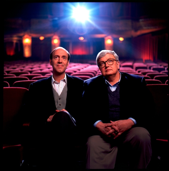 Ebert with his longtime collaborator and friend Gene Siskel