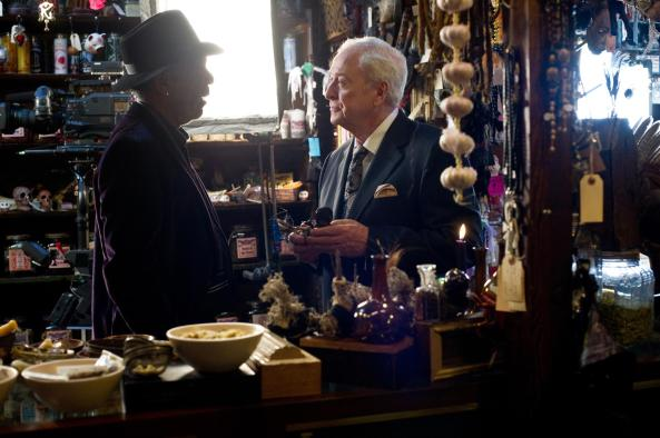 Morgan Freeman as Thaddeus Bradley (Left) & Michael Caine as Arthur Tressler (Right)