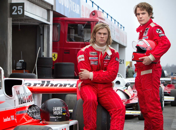 Chris Hemsworth Daniel Bruhl Rush James Hunt Niki Lauda