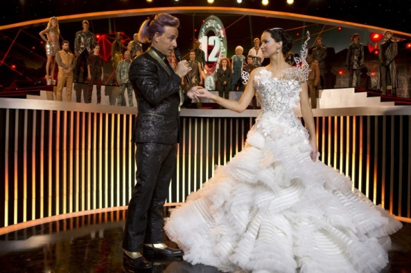 The Hunger Games Katniss Everdeen Jennifer Lawrence Stanley Tucci Caesar Flickerman