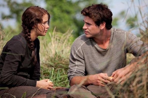 The Hunger Games Jennifer Lawrence Liam Hemsworth Katniss Everdeen Gale Hawthorne