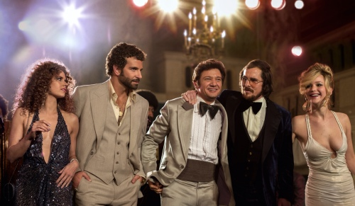 Amy Adams Bradley Cooper Jeremy Renner Christian Bale Jennifer Lawrence American Hustle Ensemble