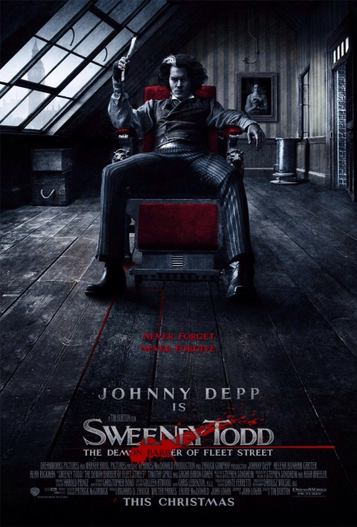 Sweeney Todd The Demon Barber of Fleet Street Movie Poster