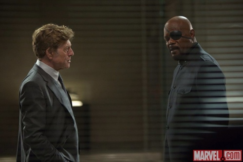 Captain America The Winter Soldier Still 2 Robert Redford Samuel L Jackson