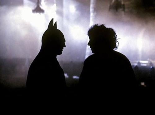 Tim Burton Michael Keaton Behind the Scenes Batman 1989