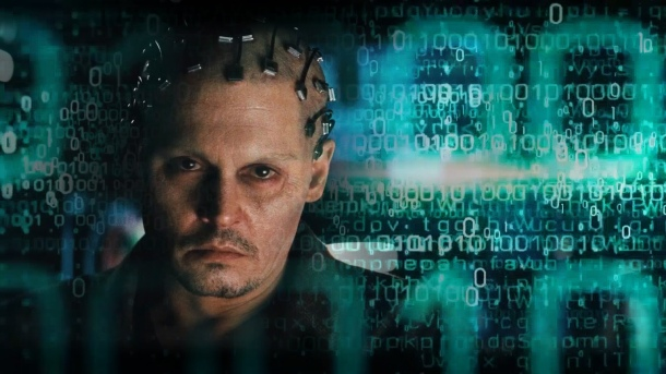 Johnny Depp as an AI genius in Transcendence.
