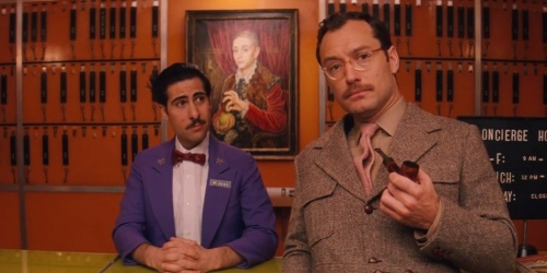 The Grand Budapest Hotel Jude Law Jason Schwartzman Scene 2