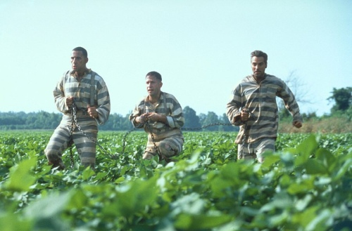 O Brother Where Art Thou George Clooney John Turturro Tim Blake Nelson Scene 3
