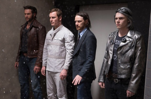 X-Men Days of Future James McAvoy Hugh Jackman Professor X Wolverine Michael Fassbender Eric Magneto Evan Peters Quicksilver