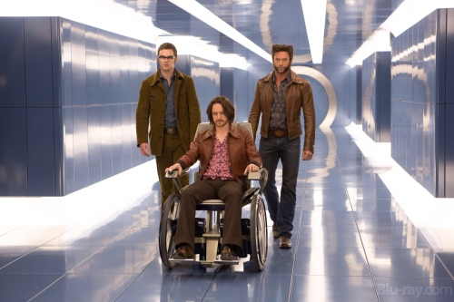 X-Men Days of Future James McAvoy Hugh Jackman Professor X Wolverine scene 3